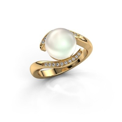 Foto van Ring Dedra 375 goud witte parel 9 mm