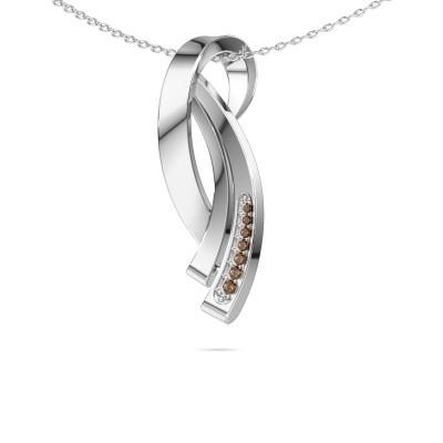 Foto van Ketting Lida 585 witgoud bruine diamant 0.064 crt