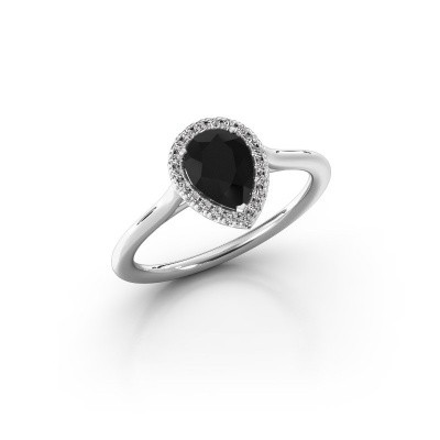 Foto van Verlovingsring Monique 1 585 witgoud zwarte diamant 0.88 crt