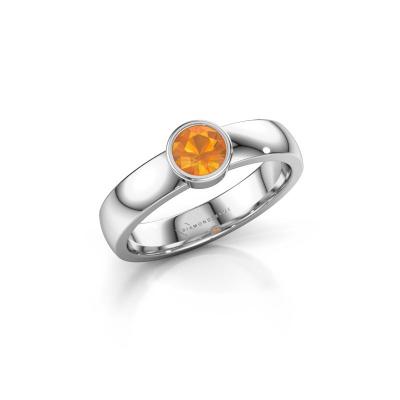 Foto van Ring Ise 1 585 witgoud citrien 4.7 mm
