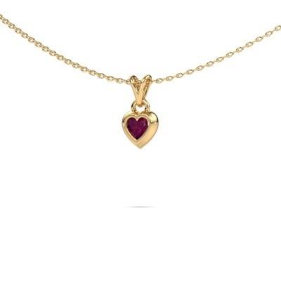 Bild von Anhänger Charlotte Heart 585 Gold Rhodolit 4 mm