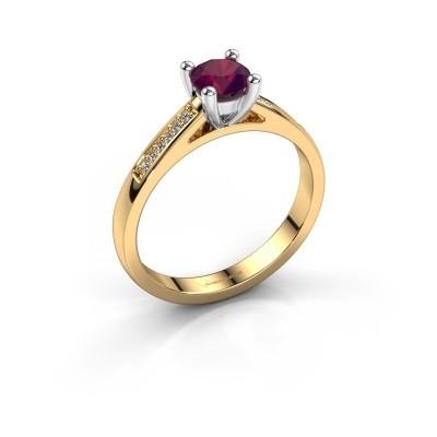 Engagement ring Nynke 585 gold rhodolite 4.7 mm