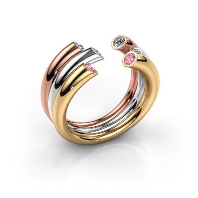 Ring Noelle 585 Gold Pink Saphir 2.4 mm