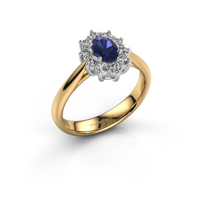 Image of Engagement ring Leesa 1 585 gold sapphire 6x4 mm