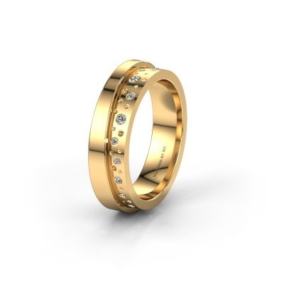 Wedding ring WH6016L15E 585 gold zirconia ±5x2.6 mm