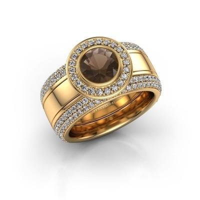Foto van Ring Roxie 585 goud rookkwarts 6.5 mm
