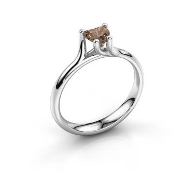 Verlobungsring Dewi Heart 925 Silber Braun Diamant 0.50 crt