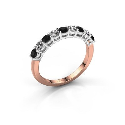 Picture of Engagement ring Michelle 9 585 rose gold black diamond 0.80 crt