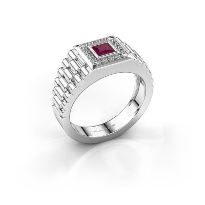 Picture of Men's ring Zilan 585 white gold rhodolite 4 mm