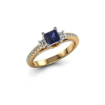 Verlovingsring Valentina 585 goud saffier 4.25 mm