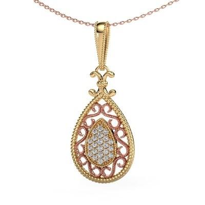 Hanger Tammie 585 goud lab-grown diamant 0.27 crt