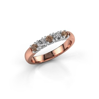Engagement ring Rianne 5 585 rose gold brown diamond 0.40 crt