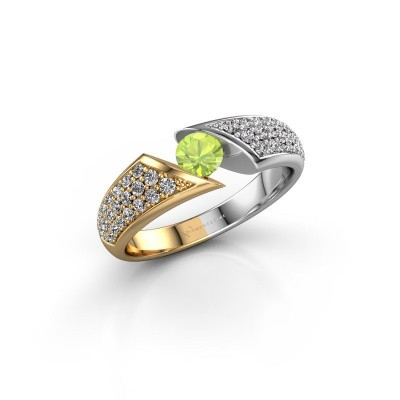 Engagement ring Hojalien 3 585 gold peridot 4.2 mm