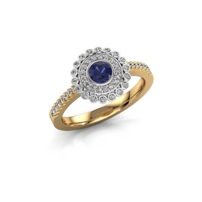 Engagement ring Shanelle 585 gold sapphire 4 mm
