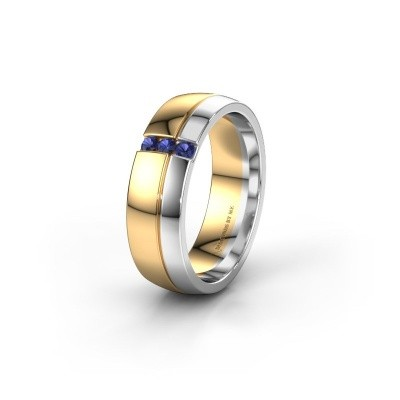 Wedding ring WH0223L56A 585 gold sapphire ±6x1.7 mm