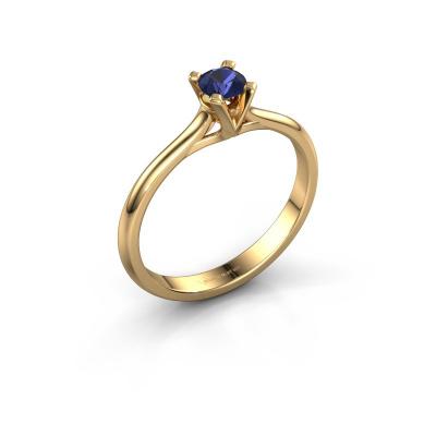 Verlovingsring Isa 1 585 goud saffier 4 mm