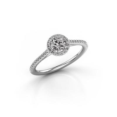 Foto van Verlovingsring Marty 2 950 platina diamant 0.491 crt