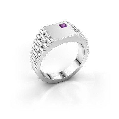Foto van Rolex stijl ring Pelle 950 platina amethist 3 mm