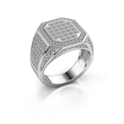 Heren ring Bjorn 950 platina diamant 2.082 crt