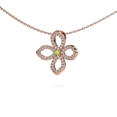 Picture of Necklace Chelsea 375 rose gold peridot 2 mm