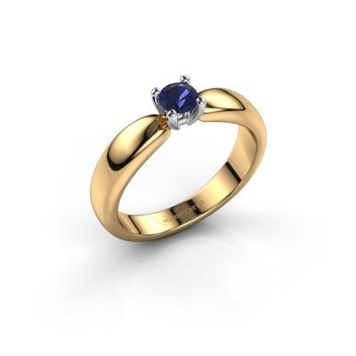 Promise ring Katrijn 585 gold sapphire 4.2 mm