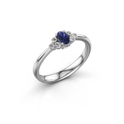 Picture of Engagement ring Lucy 1 925 silver sapphire 6x4 mm