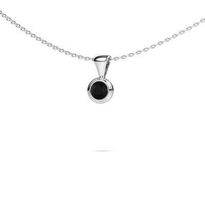 Foto van Ketting Lieke 950 platina zwarte diamant 0.30 crt