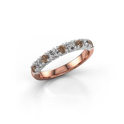 Engagement ring Rianne 9 585 rose gold brown diamond 0.495 crt