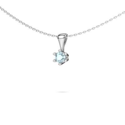 Picture of Necklace Fay 950 platinum aquamarine 4 mm