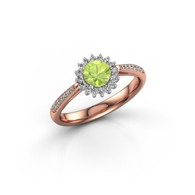 Engagement ring Tilly RND 2 585 rose gold peridot 5 mm