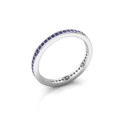 Aanschuifring Elvire 1 925 zilver saffier 1.1 mm