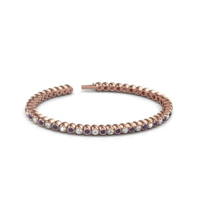 Tennisarmband Patrica 375 rosé goud saffier 2.4 mm