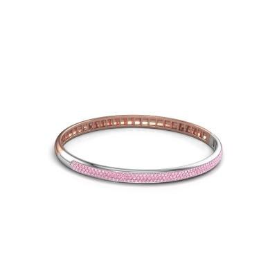 Foto van Armband Emely 5mm 585 rosé goud roze saffier 1.1 mm