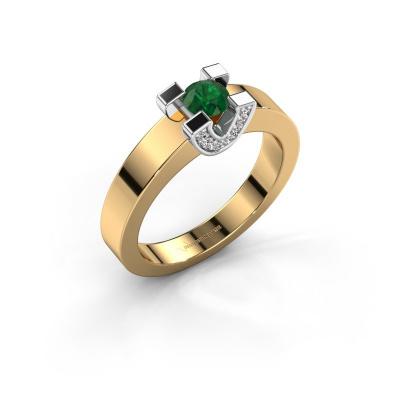 Verlovingsring Jasmijn 1 585 goud smaragd 4.2 mm