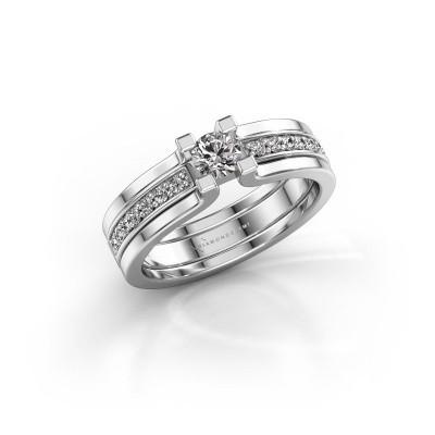 Foto van Verlovingsring Myrthe 950 platina diamant 0.418 crt