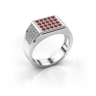 Foto van Heren ring Tim 925 zilver robijn 1.5 mm