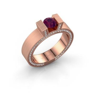 Foto van Ring Leena 2 375 rosé goud rhodoliet 5 mm