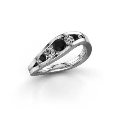 Foto van Ring Sigrid 2 950 platina zwarte diamant 0.664 crt