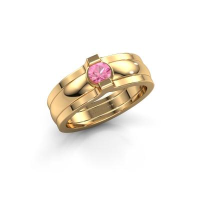 Ring Jade 585 Gold Pink Saphir 4 mm