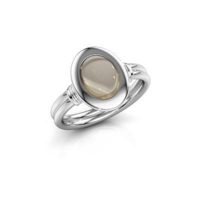 Foto van Ring Brittni 925 zilver rookkwarts 9x7 mm