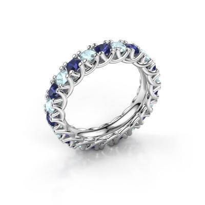 Foto van Ring Fenna 925 zilver saffier 3 mm