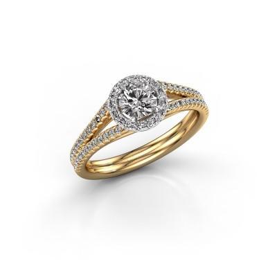 Verlovingsring Verla 2 585 goud diamant 0.745 crt
