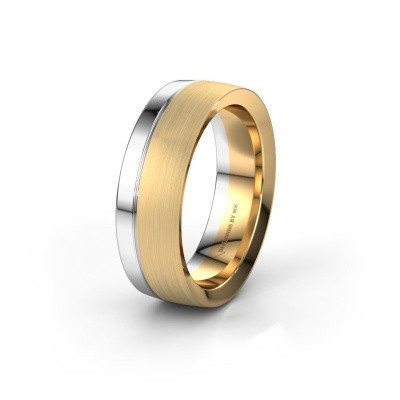 Wedding ring WH2224M26C8 585 gold ±0.28x0.09in