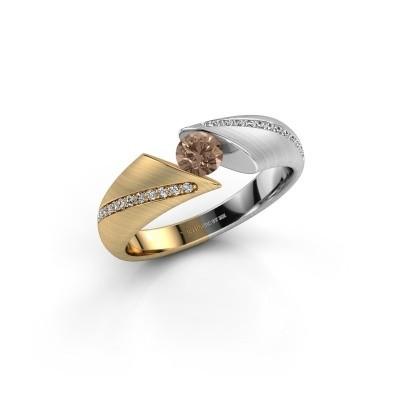 Engagement ring Hojalien 2 585 gold brown diamond 0.42 crt