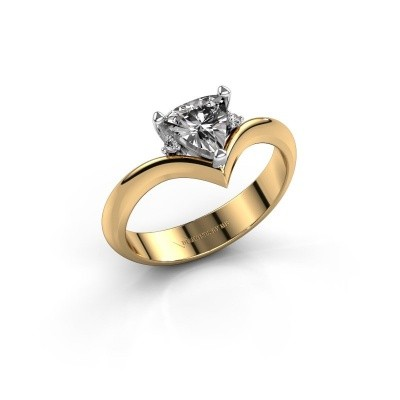 Ring Arlette 585 goud zirkonia 7 mm