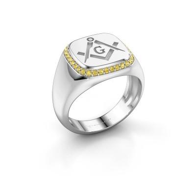 Men's ring Johan 925 silver yellow sapphire 1.2 mm