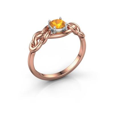 Foto van Ring Zoe 585 rosé goud citrien 5 mm