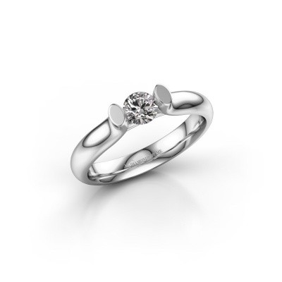 Picture of Engagement ring Ashlyn 1 585 white gold diamond 0.30 crt