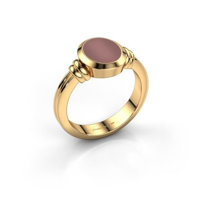 Pinkring Jake 1 585 goud carneool 10x8 mm