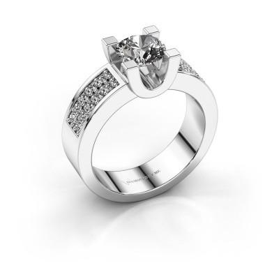 Foto van Verlovings ring Sara 3 585 witgoud diamant 1.30 crt